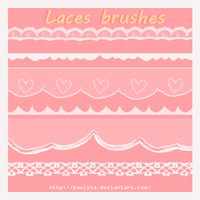 6 laces brushes by Paulysa