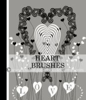 Heart Brushes by exchanged-stock