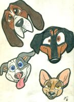 Dog Faces by wahyawolf