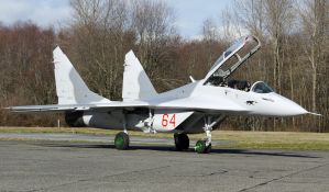 Mikoyan Mig-29UB waiting by shelbs2