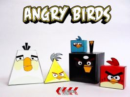 Angry Birds Family by dfordesmond