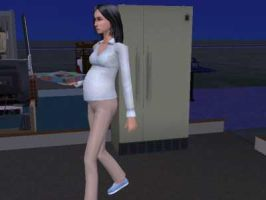 Pregnant Cassie3 by shannybabe123