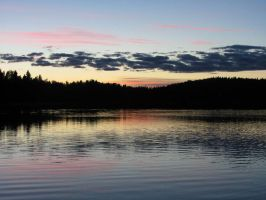 Evening at lake by Wolverica