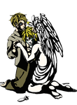 Stain glass styled UsUK by Keikonk