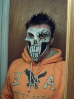 Grinning skull half head mask by Angelsrflamabl