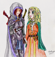 BG2: Valec And Aerie by LadyVentuswill