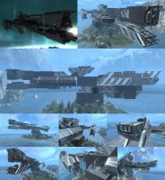 PARIS CLASS FRIGATE +DOCKED+- FORGE WORLD by D4RKST0RM99