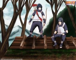 Naruto 580 brothers by i-azu