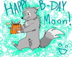 HAPPY BIRTHDAY MOON by phoenixfeather25