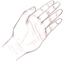 Hand Sketch by IkaritheHedgehog