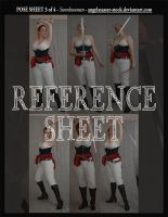 REFERENCE SHEET 3 of 4: Swordswoman by AngelaSasser-stock