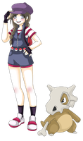 Megan and Cubone - Commission by Capsidia-Here