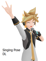 MMD Singing Pose DL by Pikarissa18