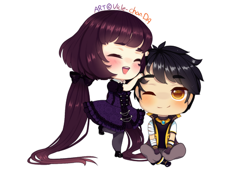 Cecile And Grayson by Vicle-chan