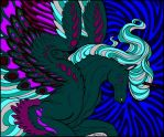 Pegasus - Teals and Purples by LissaMonster