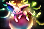 Espeon Bubbles by Togechu