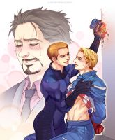 Marvel-Johnny and Steve by Athew
