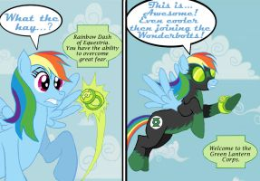 Green Lantern Rainbow Dash by BB-Shockwave