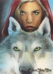 Red Riding Hood sketch card by huy-truong