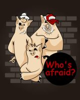 who's afraid ? by Felipefr