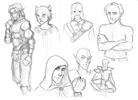 The Elder Scrolls sketches by ankalime