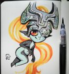Inktober - Midna by ThatCrookedMind