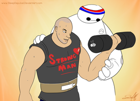 Tawfik and Baymax by SleepDepJoel