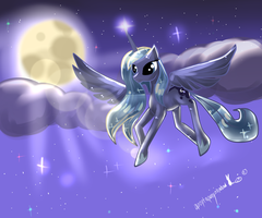 Luna guardian of the night MLP by AquaGalaxy
