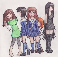 Fruits Basket Girls by DeesDilemma