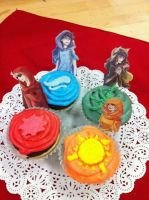 Homestuck: God Tier Cupcakes by ChewyDanish