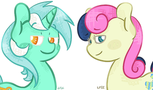 Lyra and Bon Bon by SoullessTeddybear