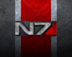 Mass Effect N7 Steel Wallpaper by EspionageDB7