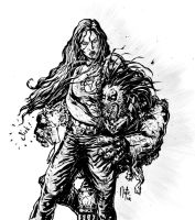 Lobo V She-Hulk by natelyon
