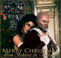 Merry Christmas from Bellatrix and Voldemort by deslea