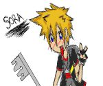Sora on MS Paint COLOURED by xCheshireGrin228