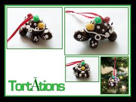 Ginger the Tiny Tort Christmas Ornament by Tortations