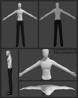 Slenderman Model Shirtless WIP by DragonsPainter