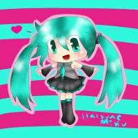 Hatsune Miku Chibi by Purpl3Surreal