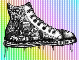 Inked Shoe by baby-drummer23