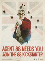 AGENT 88 UK KICKSTARTER art by TRAVIS SMITH by diggertmesch
