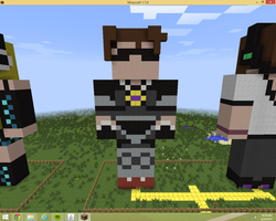 SkyDoesMinecraft Statue by xenul001