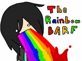 The rainbow barf by Arashi-Penguin