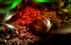 abstract greenred glass creation by Andrea1981G