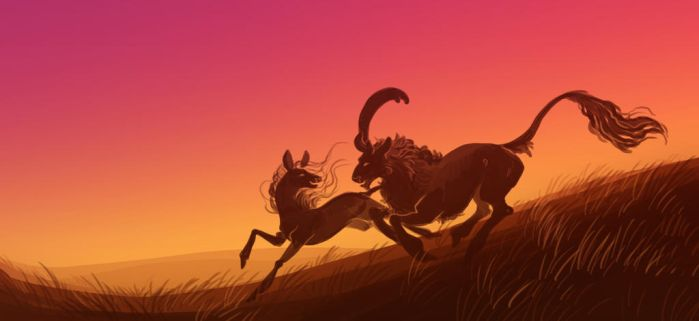 Outrunning the Sun by Frostwalker