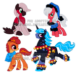 Holiday pony adoptables2 by Sakuyamon