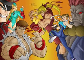street fighter colored by wohoo19m