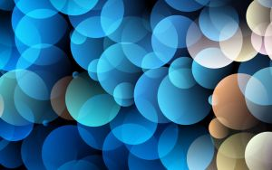 Blue Circles Wallpaper by allison731