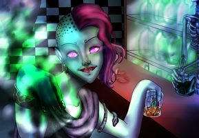 Curses, Spells and whisky by serinablackcat98
