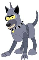 Bender As A Dog by MegBeth