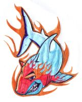requin flamme by yvelise